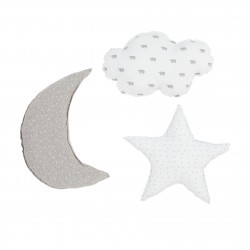 Baby clic Pack 3 cojines Gris perla