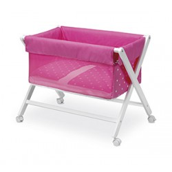 Minicuna plegable New Stars fresa