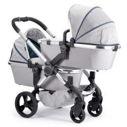 ICANDY Peach Gris Twin 2sillas 2capazos