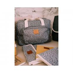 Bolso maternidad Lyberty flowers gris