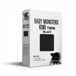 Capota Kuki Twin Negro Baby Monsters.
