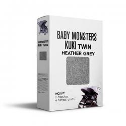 Capota Kuki Twin Gris Baby Monsters.