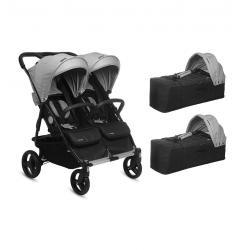 PACK 2 BABY TWIN + 2 CAPAZOS GRIS