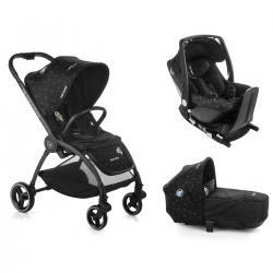 CONJUNTO OUTBACK + CRIB + ONE GALAXY NEGRO + BASE ISOFIX