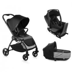 OUTBACK CRIB ONE Solid Black Be Cool + Base Isofix