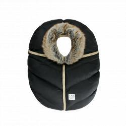 7AM Saco Car Seat Cocoon Black Faux Fur