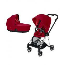 Cybex Mios True Red Chasis Chrome y Capazo.